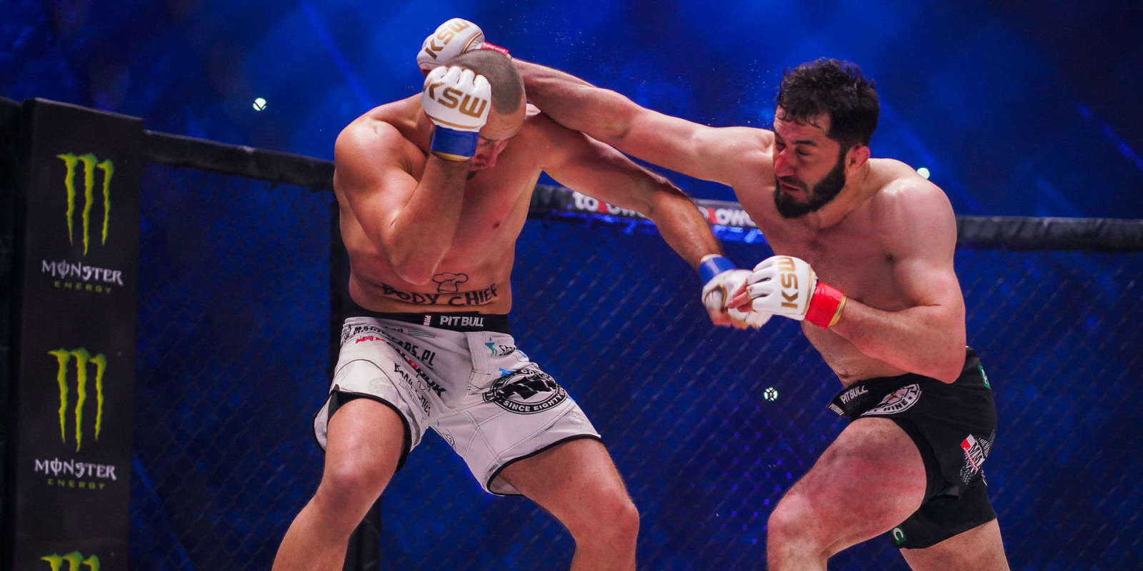 KSW 42 at Atlas Arena in Lodz, Poland - fight / action picture - Tomasz Narkun & Mamed Khalidov