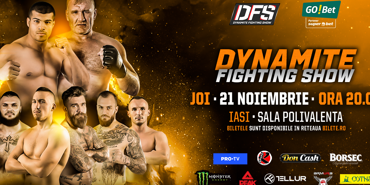 Event poster for the second round of the contracted event Dynamite Fighting Show in Romania
