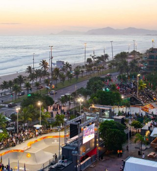 Images of Rayssa Leal from World Skate OI STU in Rio De Janeiro, Brazil