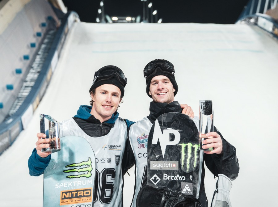 Images from the 2019 Air + Style Beijing FIS Snowboard World Cup On December 14, 2019.