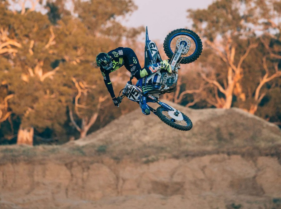 Jackson Strong's Sand Quarry FMX set up.