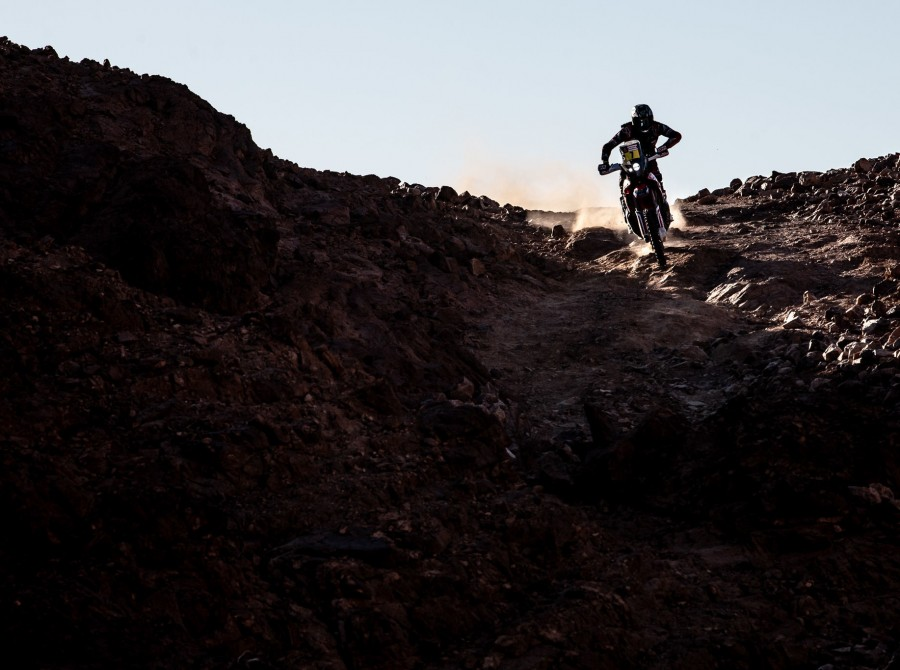 Benavides during Dakar 2020