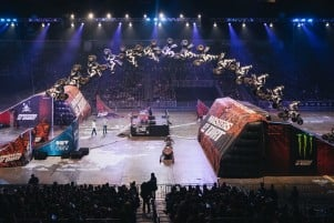Photo taken at Masters of Dirt Freestyle tour event in Zagreb, Croatia, on 28th of December 2019.