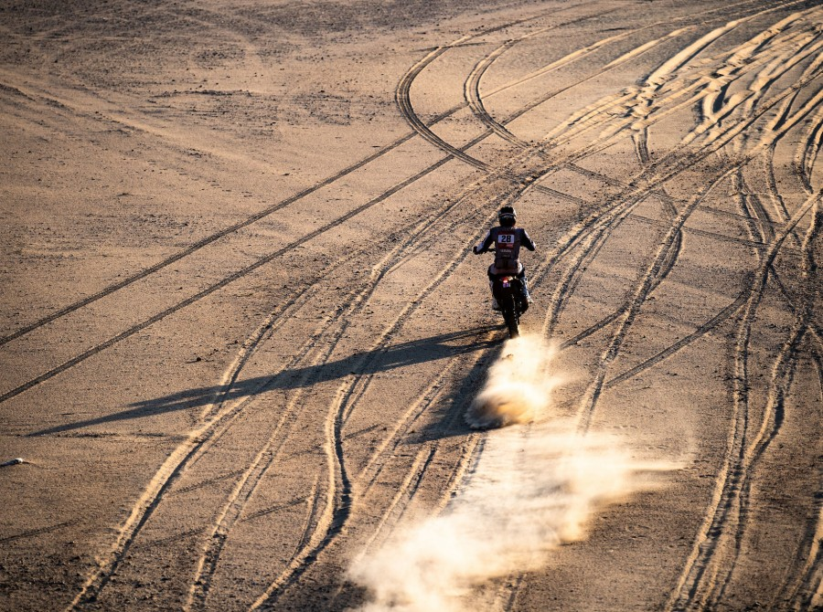 McCanney during Dakar Rally