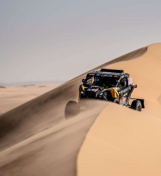 Casey Currie at the 2020 Rally Dakar in Stage 10