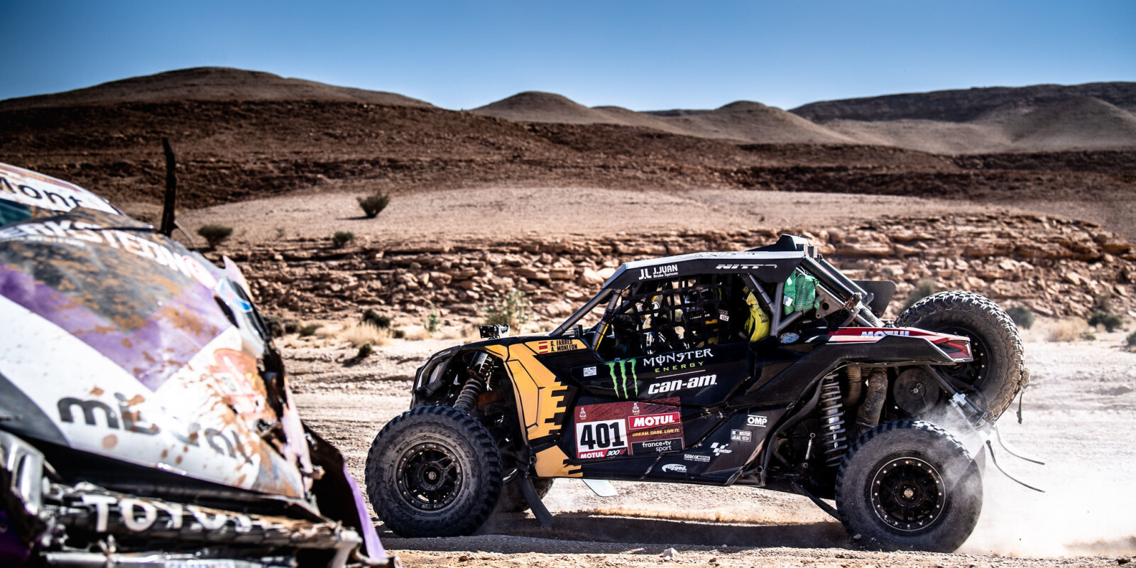Images from stage 9 of the 2020 Dakar