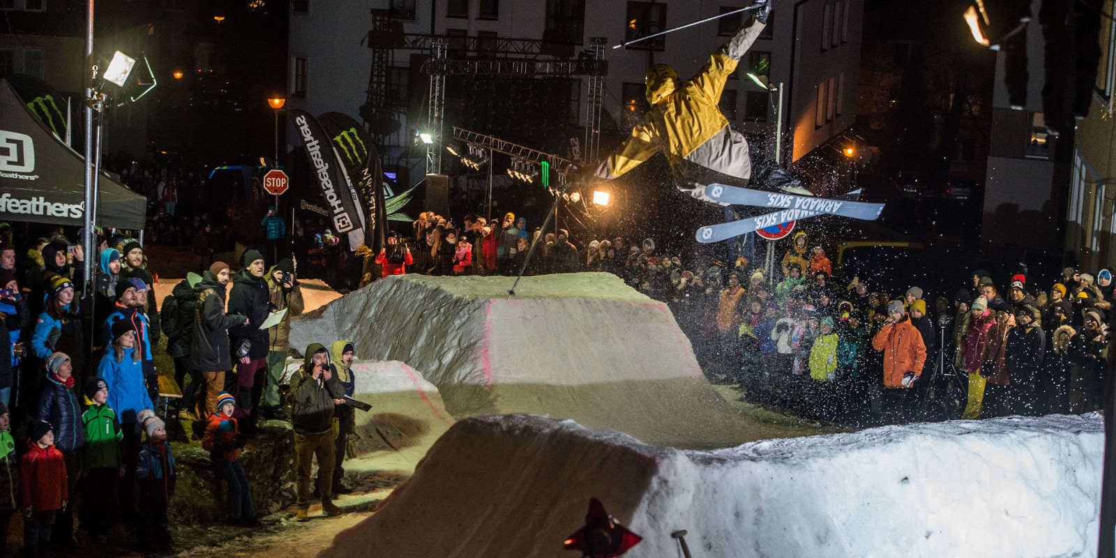 Horsefeathers Iron Jam 2019 - Skiing and Snowboarding jam. Monster sponsored event, but athletes in images are not sponsored.