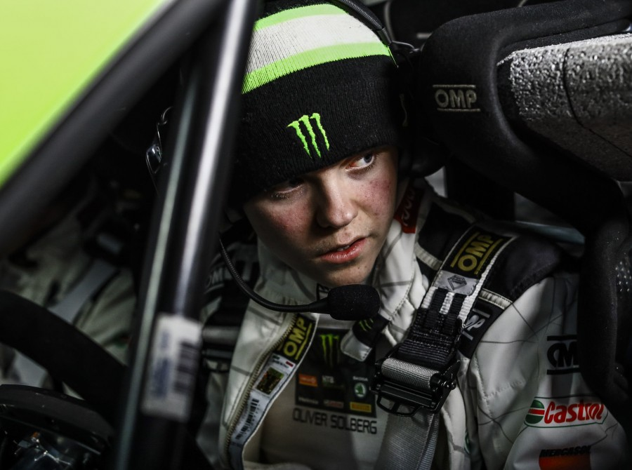 images of Oliver Solberg at the 2020 WRC Monte Carlo