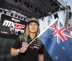 Courtney Duncan wins the 2019 WMX title at the Grand Prix of Turkey