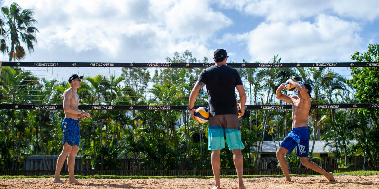 Photos of Hydro athletes Tri Bourne and Trevor Crabb training in Hawaii