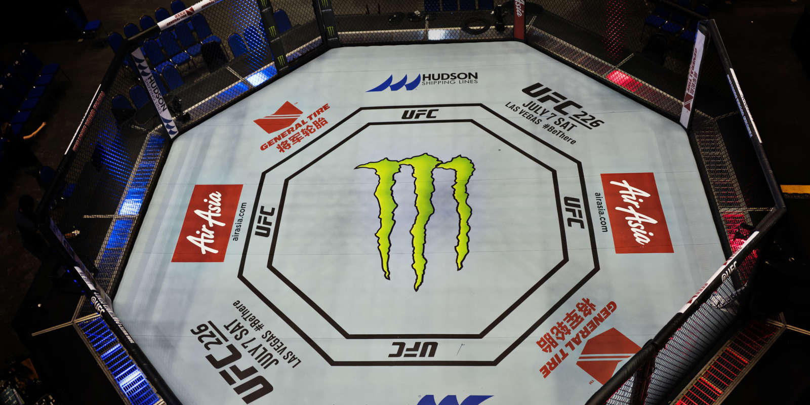 Image of the Octagon from the UFC Singapore match