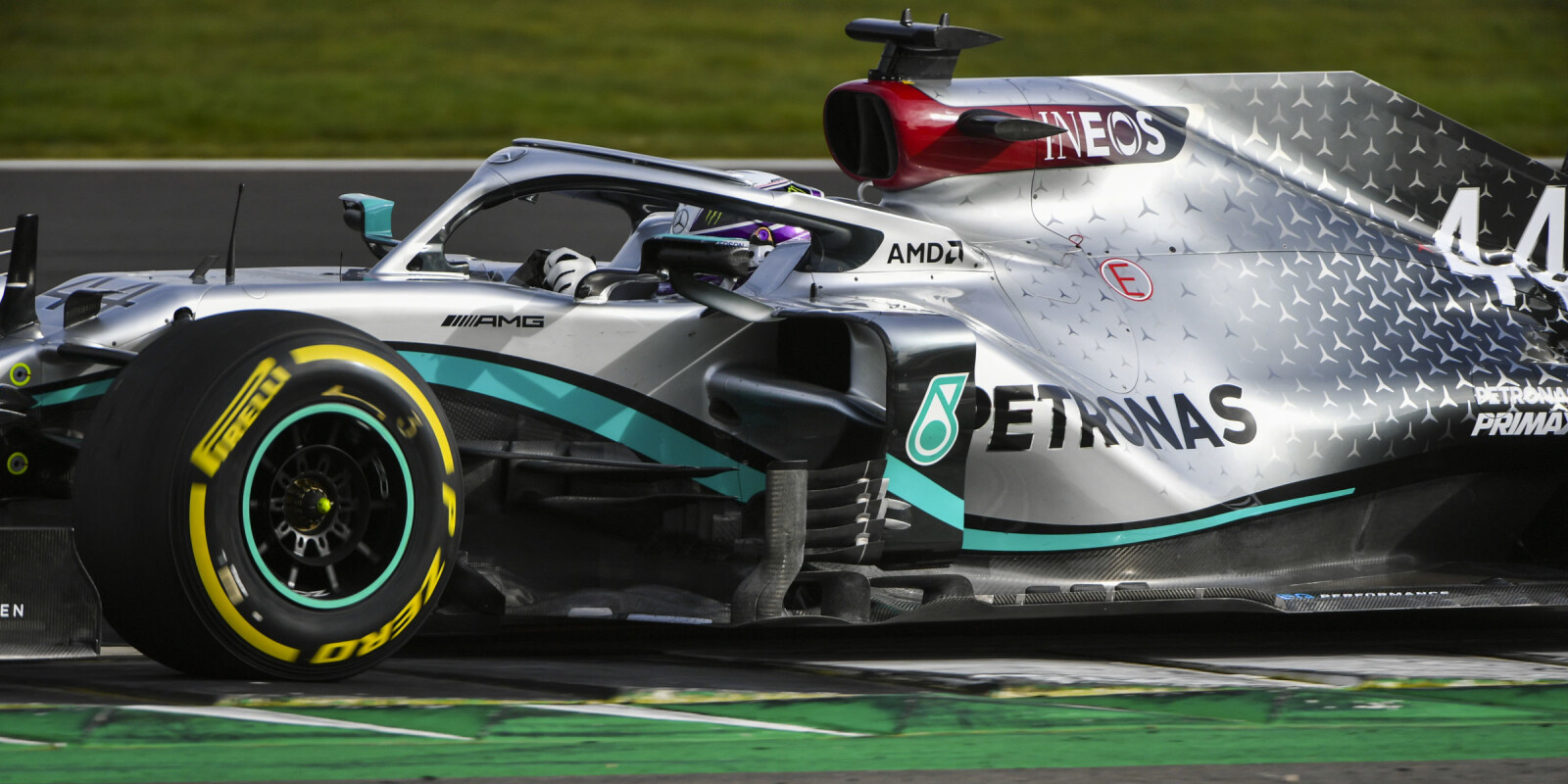 Images of the reveal and shakedown of the 2020 Mercedes W11 F1 car