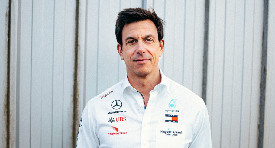 Mercedes F1 boss Toto Wolff at the 2020 F1 Mercedes W11 Reveal Images