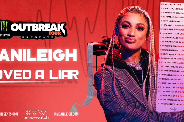 Monster Energy Outbreak Tour 2020 with DaniLeigh announcement admats