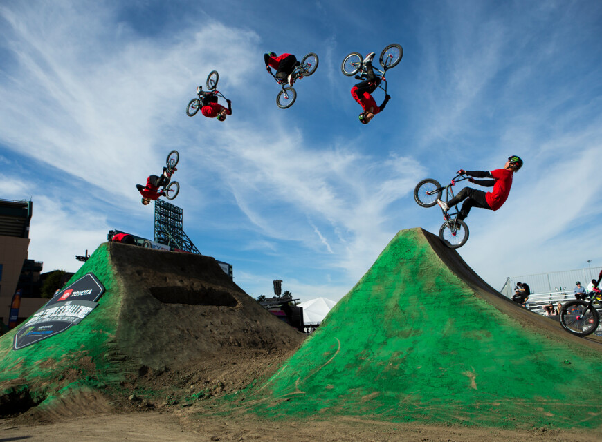 BMX Images from Toyota Triples in Anaheim California Supercross.