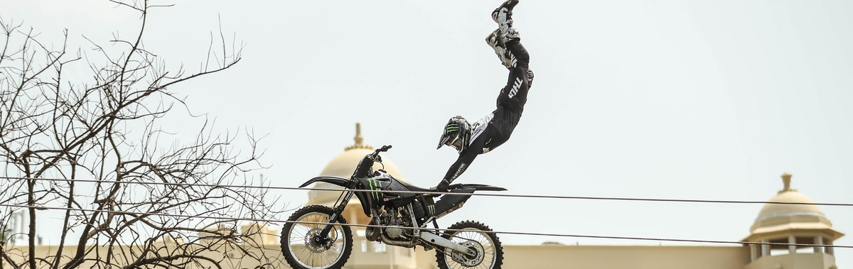 Jackson Strong stunts - Monster Ultra Shoot in India
