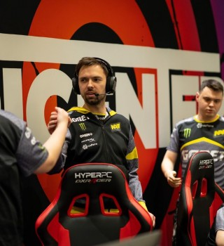 Pictures of NaVi's coach Blade, for an interview with him on Monster website.