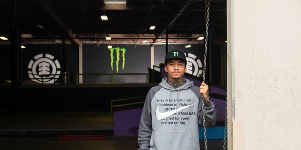Images of Nyjah Huston's 'SHELTERED IN' with guests Matt Berger & Ishod Wair.