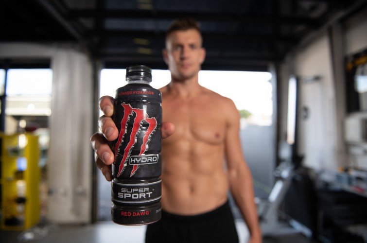 Photos of Gronk with new product Super Sport