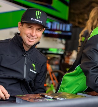 Jeremy McGrath at the first stop in Anaheim of the 2019 Supercross season