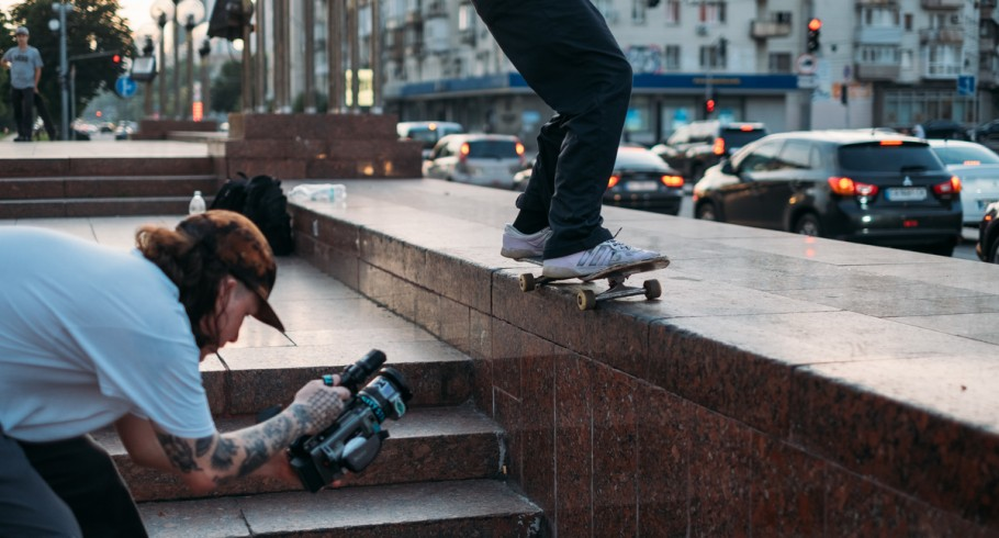 Pictures to illustrate the article dedicated to Go Skateboarding Day 2020 in Ukraine
