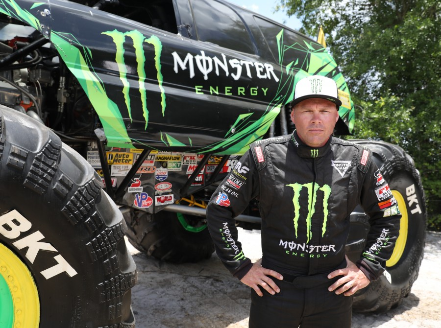 Images of Todd LeDuc at Monster Jam night of records.