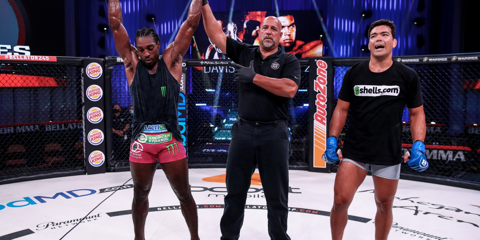 Images from Bellator 245 Davis vs. Machida on Friday September 11, 2020 at Mohegan Sun Arena in Uncasville, Connecticut.