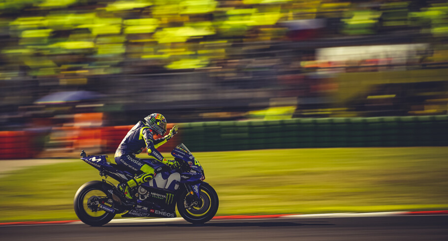 Valentino Rossi at the 2018 GP of San Marino
