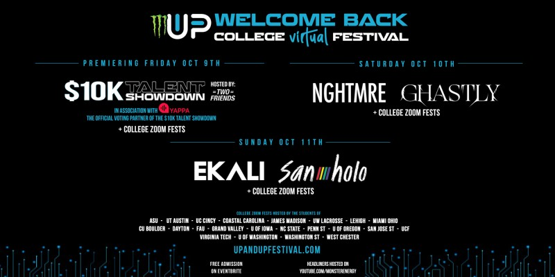Monster Energy Presents: Up & Up Welcome Back Virtual Festival