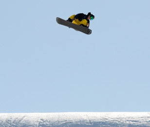 Images from the Burton US Open for slopestyle snowboard.