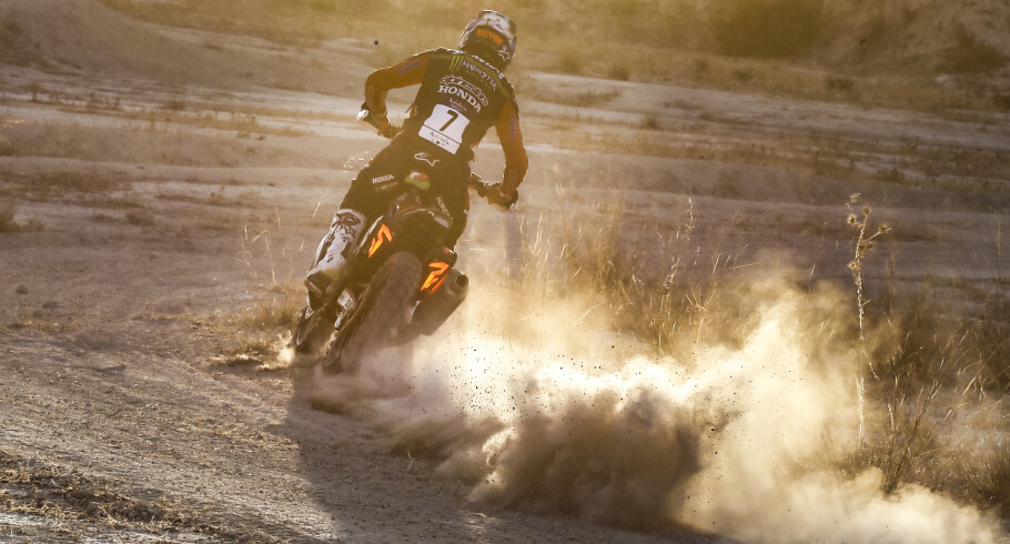 Monster Energy Honda images from the 2020 Andalucia Rally