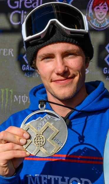 Images of the X games Rail Jam even of Darcy Sharpe and Sven Thorgren