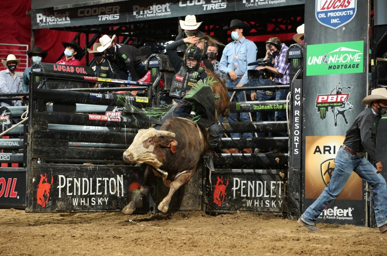 Derek Kolbaba at Unleash the Beast PBR in Des Moines Iowa.
