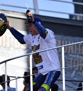 Sunday images of Joan Mir at Valencia winning the 2020 MotoGP Championship