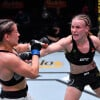 LAS VEGAS, NV - NOVEMBER 21: in their women's flyweight championship bout during the UFC 255 event at UFC APEX on November 21, 2020 in Las Vegas, Nevada.