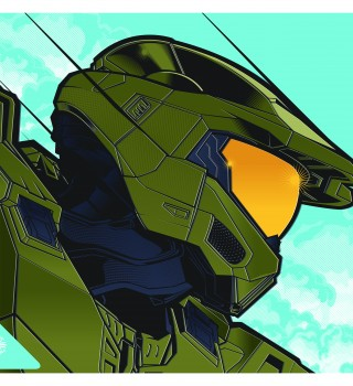 Halo art of Master Chief provided by Microsoft in conjunction with our Halo Infinite promotion