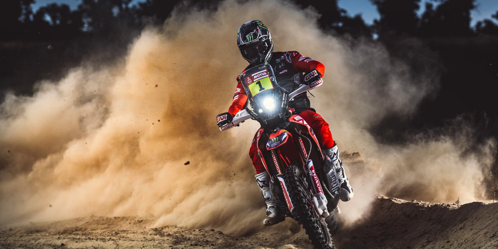Exclusive team imagery of the 2020 / 2021 HRC Dakar Team