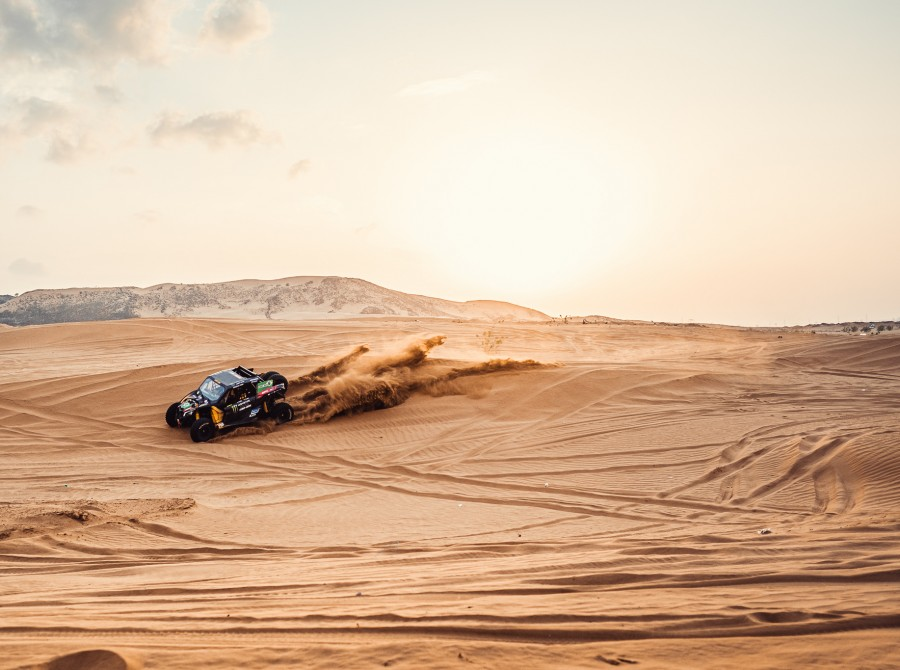 Monster Energy Can-Am Team images from the 2021 Dakar Rally in Saudi Arabia