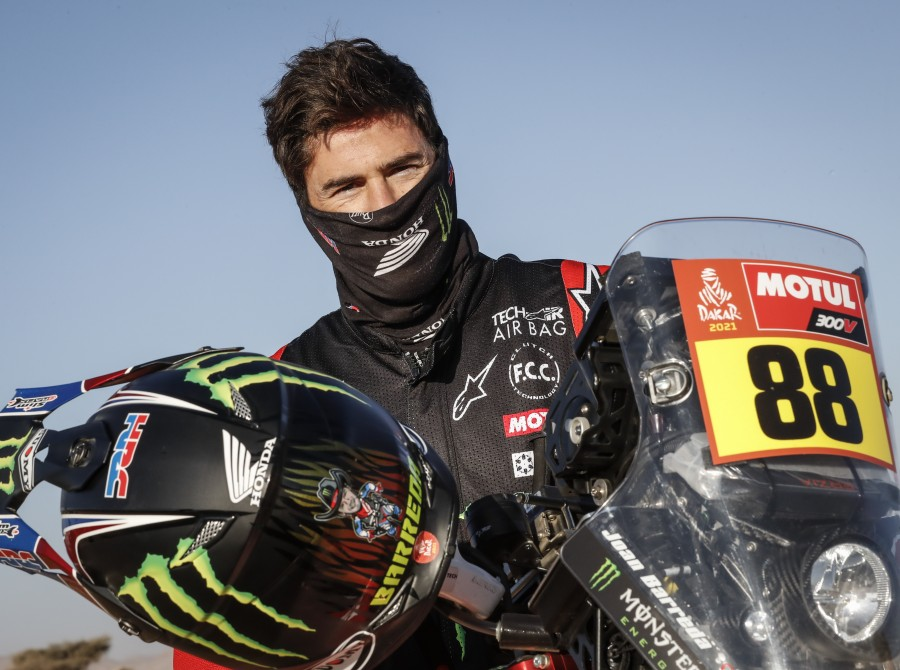 Monster Energy Honda Team images from day one / stage 1 at the 2021 Dakar Rally in Saudi Arabia