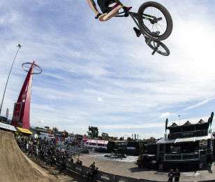 BMX Images from Toyota Triples Finals in Anaheim California Supercross.