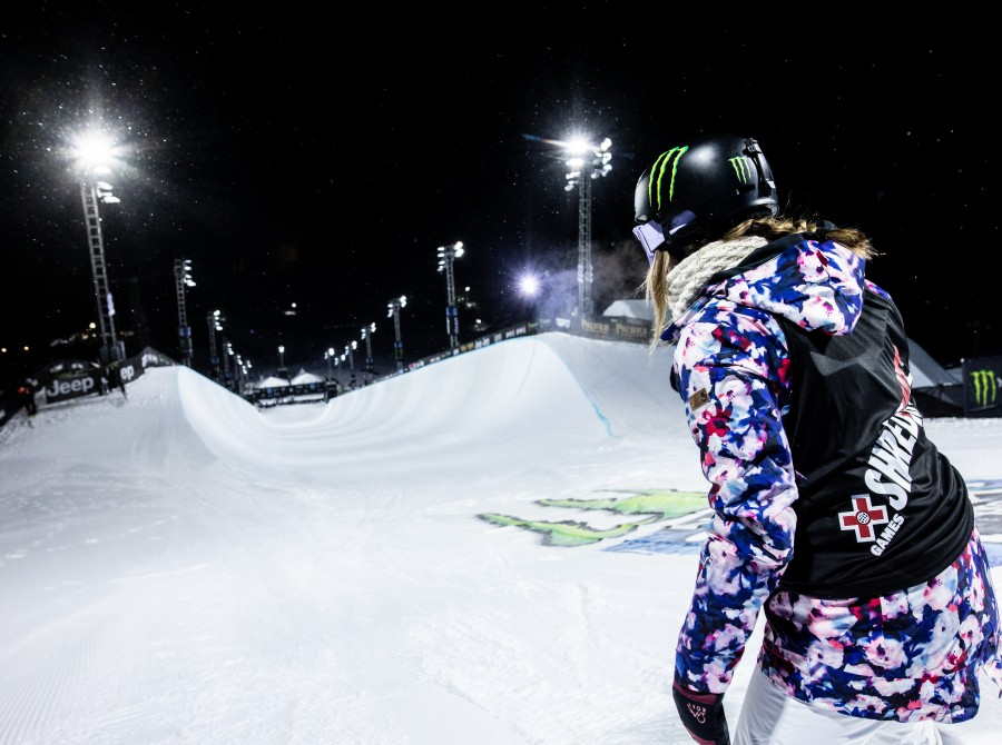 Image assets from Day 2 from Women's Snowboard SuperPipe on 2021 X Games Aspen Colorado.