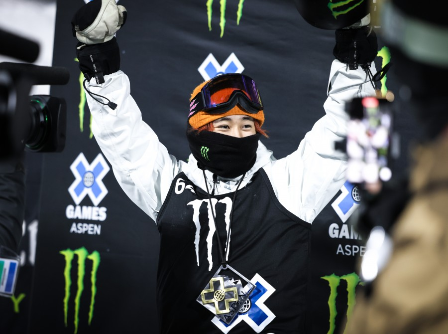 Image assets from Day 3 from Men's Super Pipe on 2021 X Games Aspen Colorado.
