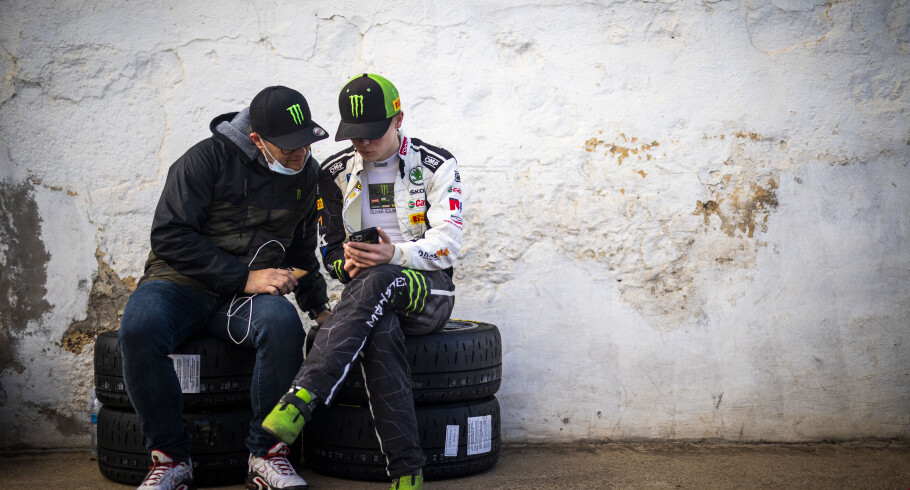 Images of Oliver Solberg competing at the 2020 Rally Islas Canarias - round five of the 2020 European Rally Championship