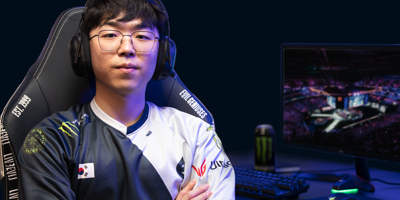 Photos of Evil Geniuses' Ignar prior to the LCS Spring Split kickoff