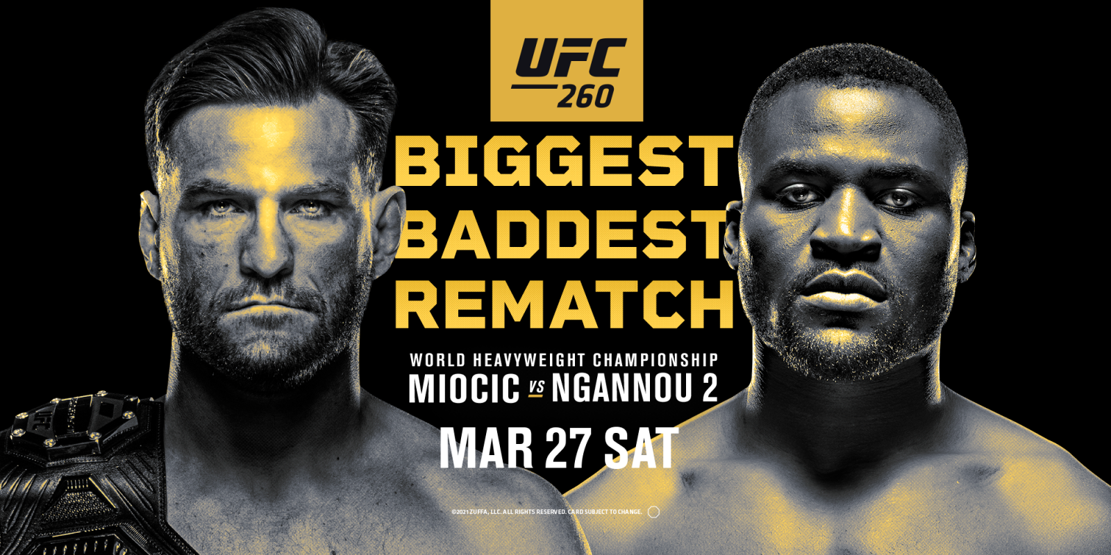 UFC Miocic vs Ngannou 2 Fight Promotion IG Story, Square, & Hero/YT Image