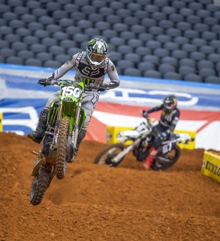 Images from Round 2 of the Supercross Event in Arlington, Texas