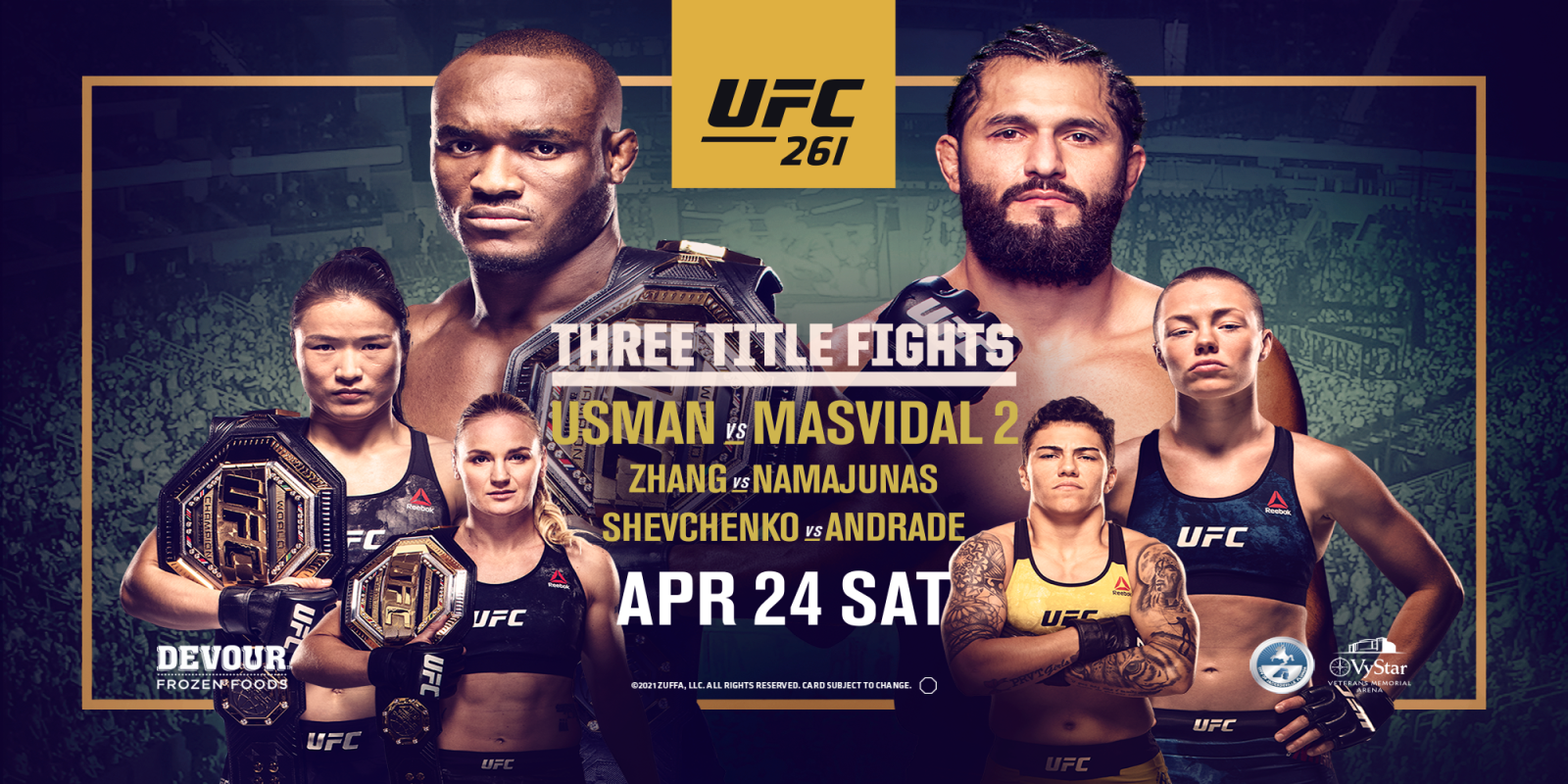 UFC 261 Fight for Events Page on MEC