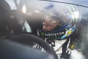 Images of Oliver Solberg competing at the rally Fafe in Portugal (2020)