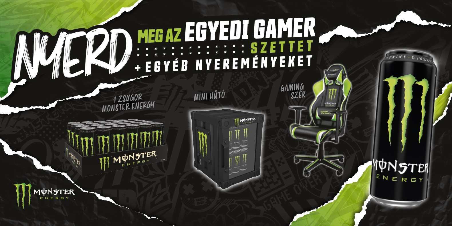 Website artwork for Q2 gaming promotion in Hungary - The ultimate home gaming setup