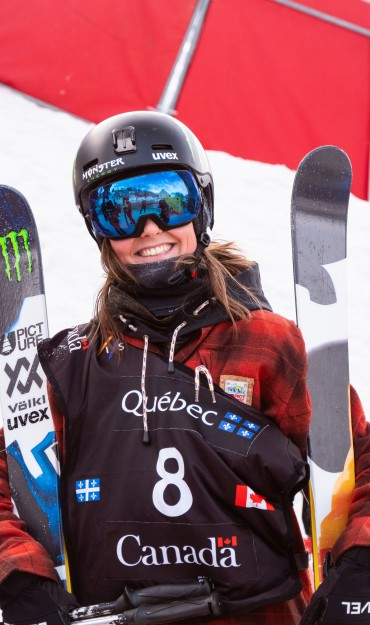 Some action and lifestyles of Coline Ballet-Baz at FIS Ski Big Air World Cup